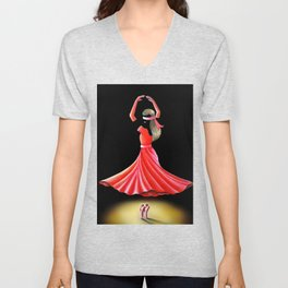 DISSOLVE YOURSELF INTO DANCE Unisex V-Neck