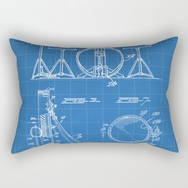 Drum Set Patent - Drummer Art - Blueprint Rectangular Pillow