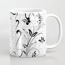 Abstract black floral ornament Coffee Mug