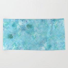 Blue Galaxy Beach Towel