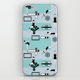 Art Deco Swimmers iPhone Skin