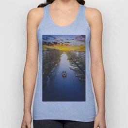 Amsterdam Canal Unisex Tank Top
