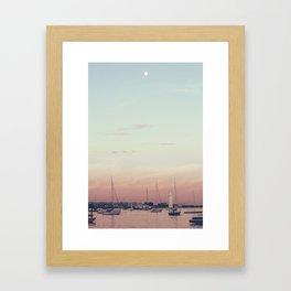 Sailing on the Boston Harbor Framed Art Print