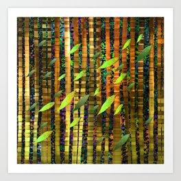 Green Jungle Breeze Art Print