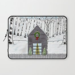 Christmas Cabin In The Snowy Woods Laptop Sleeve
