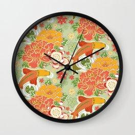 Koi Pond Wall Clock