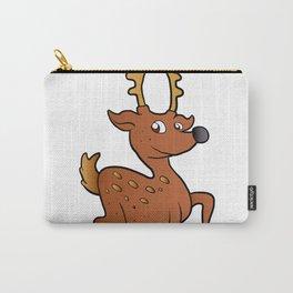 brown  deer cartoon Carry-All Pouch