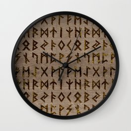 Ancient Celtic Runes  Alphabet pattern Wall Clock