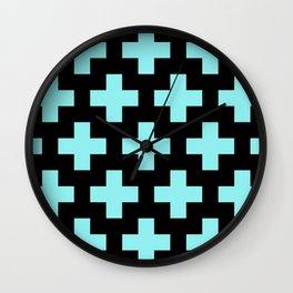 blue cross Wall Clock