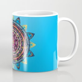 Circle of Emotions in Blue Coffee Mug