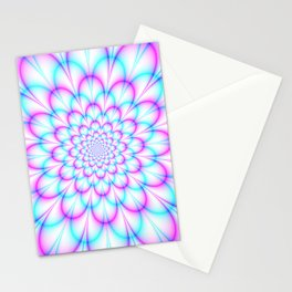 Pastel Chrysanthemum in Pink and Blue Stationery Cards