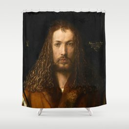 Self-Portrait at the Age of Twenty Eight by Albrecht Dürer Shower Curtain