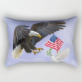 The Eagle Flies with the Dove Rectangular Pillow