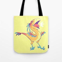 Colorful Caudipteryx Tote Bag