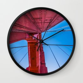 Up The Golden Gate Wall Clock