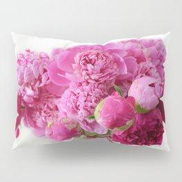 Pink Peonies Romantic Floral Bouquet Pillow Sham