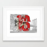 49ers Framed Art Prints featuring NFL Legends: Joe montana 49ers by Akyanyme
