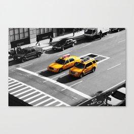New York Cabs. Canvas Print
