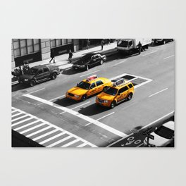 New York Cabs. Canvas Print