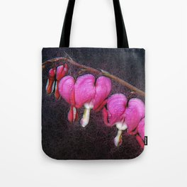 Electric Bleeding Hearts Tote Bag