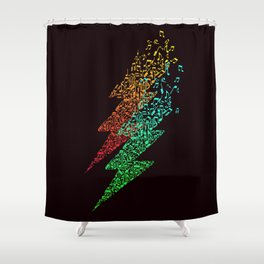 Electro music Shower Curtain