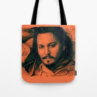 johnny depp Tote Bags featuring Johnny Depp II. by Thubakabra