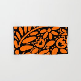 Beautiful Orange Otomi Hand & Bath Towel