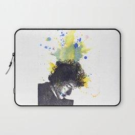 Portrait of Bob Dylan in Color Splash Laptop Sleeve