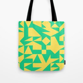 English Square (Yellow & Green) Tote Bag