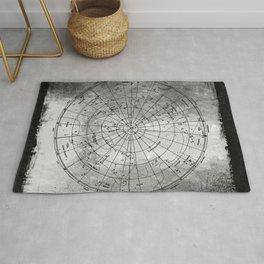 Old Metal Northern Constellation Map Rug