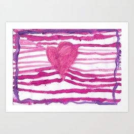 Heart waves Art Print