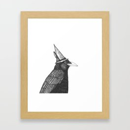 Willem Dacrowe Crow Wearing a Witch's Hat Framed Art Print