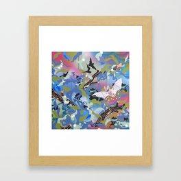 Illuminated Bat Framed Art Print