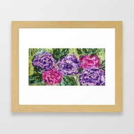When Grandma calls - Abstract - Floral painting Framed Art Print
