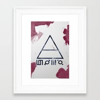 30 seconds to mars Framed Art Prints featuring 30 Seconds of Mars Watercolor by sky0323