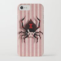 black widow iPhone & iPod Cases featuring Widow by willjames