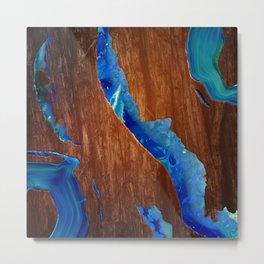 Agate River Metal Print