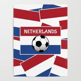 Netherlands Flag Football Poster