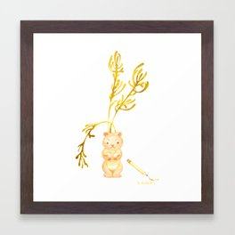 Lil' Woodchuck Planter Framed Art Print