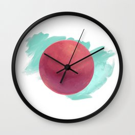 Red Moon Wall Clock