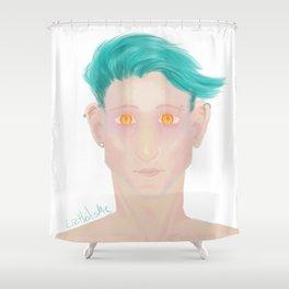 Demon eyes Shower Curtain