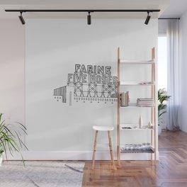 Montréal - Farine Five Roses - Black Wall Mural