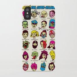 The League of Cliché Evil Super-Villains iPhone Case