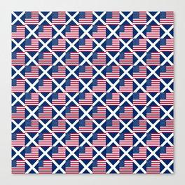 Mix of flag: usa and scotland Canvas Print