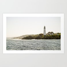 Lighthouse in Portland, Maine. Art Print