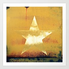 Worn & Weathered Star Art Print