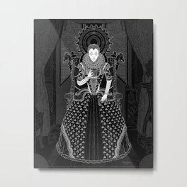 Parallaxium Queen Venetia Metal Print