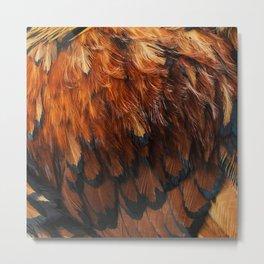 Feathers Too Metal Print