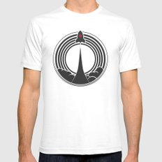 Space Rocket Mens Fitted Tee White SMALL