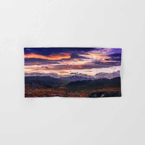 Cloud Covered Mountains Hand & Bath Towel